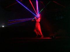 Mona Seebohm Laserviolinshow - Juli 2019